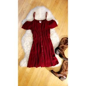 Versatile Burgundy Dress